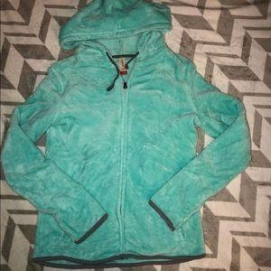 No boundaries soft fuzzy zip up jacket